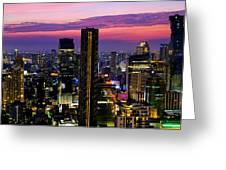 Sunset Over Bangkok Greeting Card