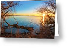Sunset Over Barr Lake Greeting Card by Tom Potter