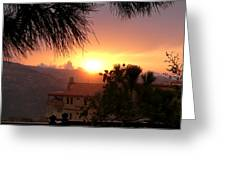 Sunset Over Bcharre, Lebanon Greeting Card