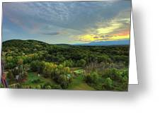 Sunset Over Blue Hill Greeting Card