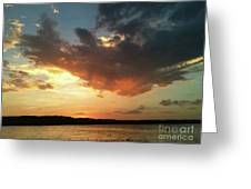 Sunset Over Bridgeport Lake Greeting Card