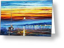 Sunset Over California Greeting Card