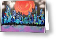 Sunset Over Capital Square Greeting Card