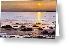 Sunset Over Cara Greeting Card