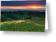 Sunset Over Central Oregon 4 Greeting Card