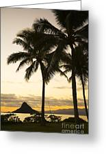 Sunset Over Chinamans Hat Greeting Card