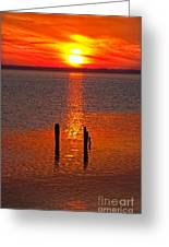Sunset Over Currituck Sound Greeting Card