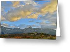 Sunset Over Dallas Divide Greeting Card