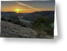 Sunset Over Forest Greeting Card