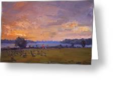 Sunset Over Gratwick Park Greeting Card