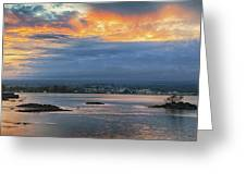 Sunset Over Hilo Greeting Card