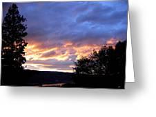 Sunset Over Kalamalka Greeting Card