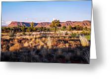 Sun Setting Over Kings Canyon - Northern Territory, Australia Greeting Card