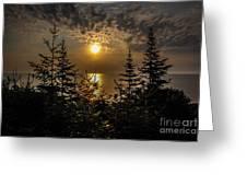 Sunrise Over Lake Huron Greeting Card