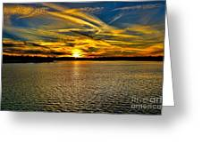 Sunset Over Lake Palestine Greeting Card