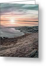 Sunset Over Lake Vanern, Sweden Greeting Card