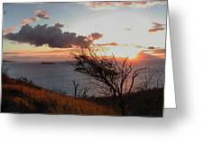 Sunset Over Lanai 2 Greeting Card