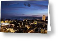Sunset Over Lausanne   Greeting Card