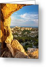 Sunset Over Les Baux Greeting Card