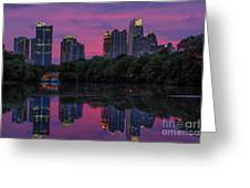 Sunset Over Midtown Greeting Card by Doug Sturgess