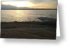 Sunset Over Mississippi River Greeting Card