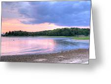 Sunset Over Monk's Park Greeting Card