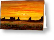 Sunset Over Monument Valley Greeting Card