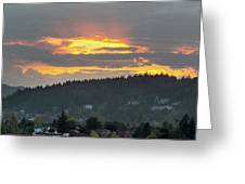 Sunset Over Mount Talbert In Happy Valley Greeting Card