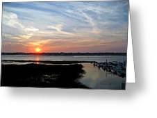Sunset Over Murrells Inlet II Greeting Card