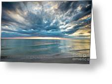 Sunset Over Naples Beach Greeting Card