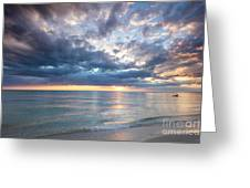 Sunset Over Naples Beach II Greeting Card