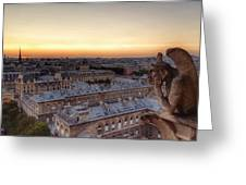 Sunset Over Paris Greeting Card
