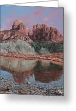 Sunset Over Red Rocks Of Sedona  Greeting Card