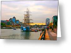 Sunset Over River  Liffey 2 Greeting Card