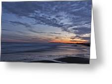 Sunset Over Rye New Hampshire Coastline Greeting Card