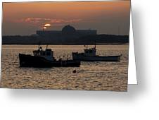 Sunset Over Seabrook Greeting Card