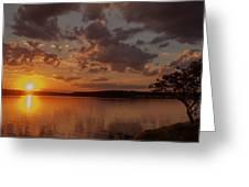 Sunset Over Shark River Greeting Card