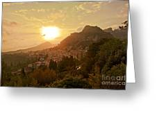 Sunset Over Sicily Greeting Card