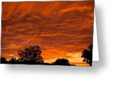 Sunset Over Simi Greeting Card