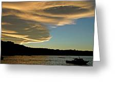 Sunset Over South Island Of New Zealand Greeting Card