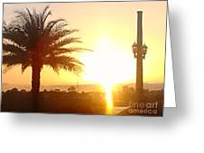 Sunset Over St Augustine Florida Greeting Card