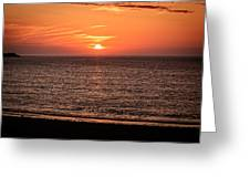 Sunset Over St. Ives Bay Greeting Card