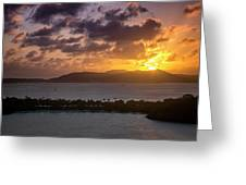 Sunset Over St. Thomas Greeting Card