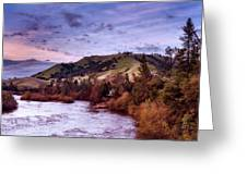 Sunset Over The American River Greeting Card
