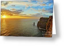 sunset over the Aran Islands Greeting Card