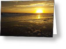 Sunset Over The Beach Greeting Card