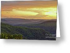 Sunset Over The Bluestone Gorge - Pipestem State Park Greeting Card