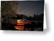Sunset Over The Caloosahatchee Greeting Card