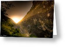 Sunset Over The Gorge Greeting Card