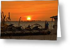 Sunset Over The Gulf 1 Greeting Card